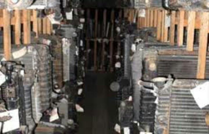 Row of aged radiators