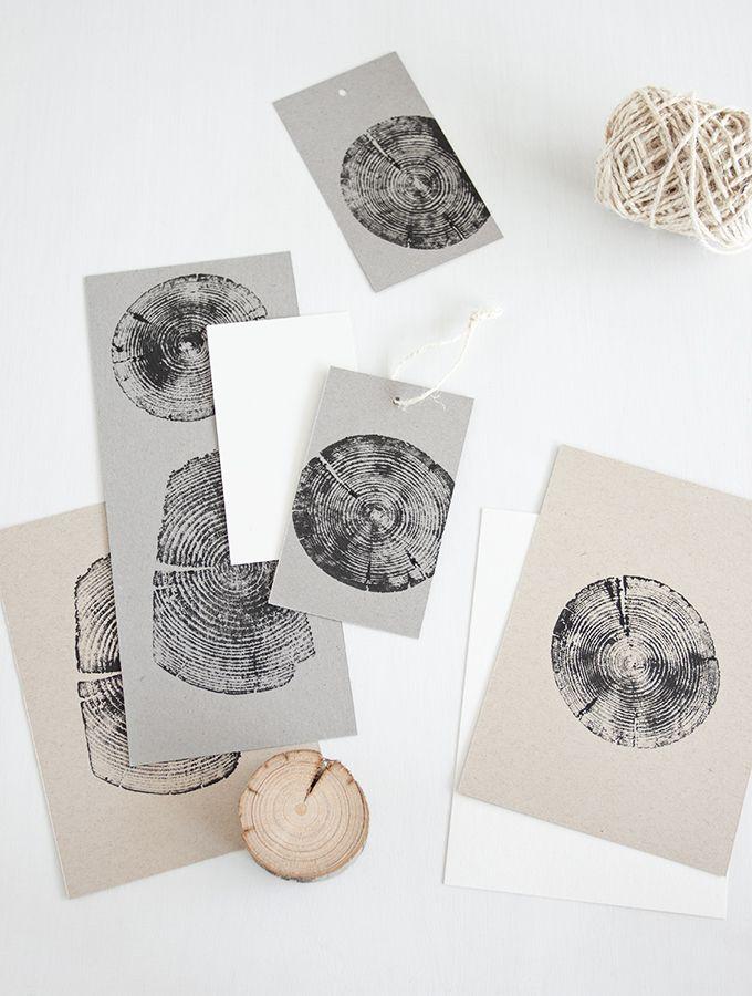 Stempeln mit Holz – das ist so einfach wie es kl…