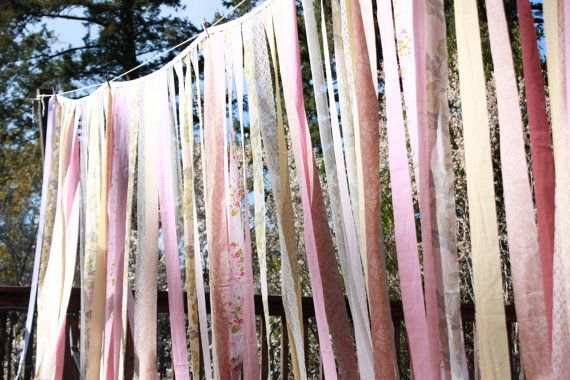 Ribbons hanging from the trees...
