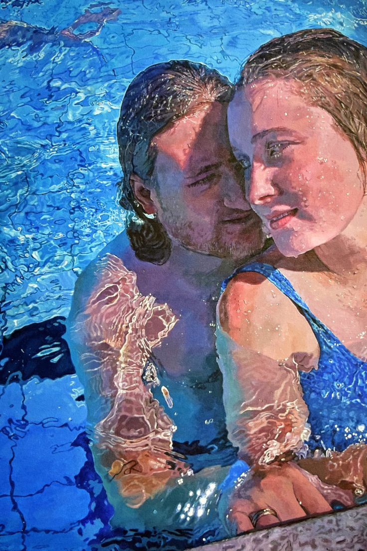 FINEARTSEEN - View Poolside by Abi Whitlock. An original realism underwater painting. Available on FineArtSeen - The Home Of Original Art. << Pin For Later >>