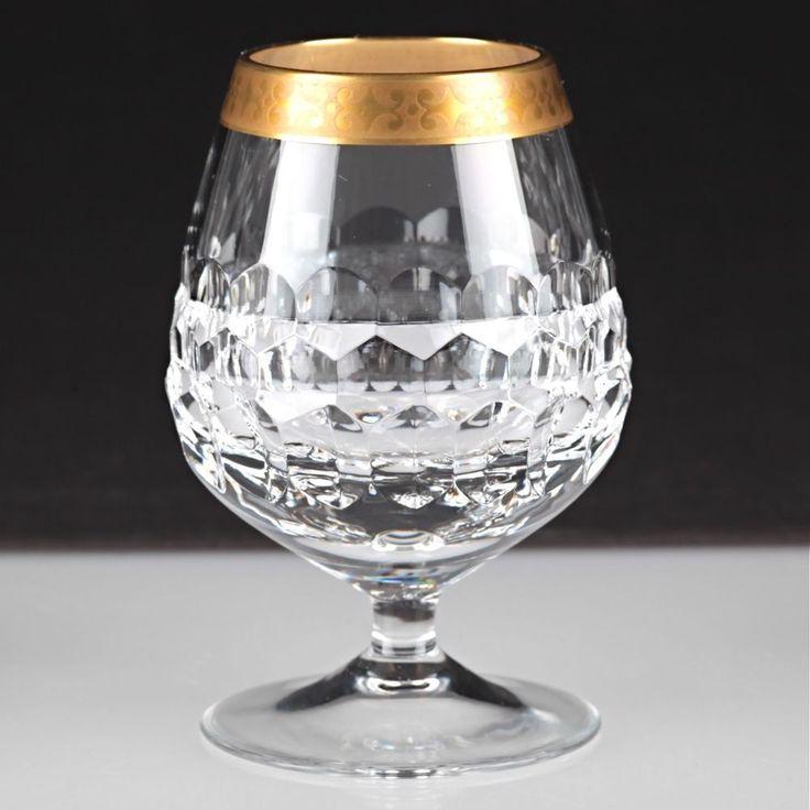 1 Vintage Cognacglas Driburg Kristall Goldrand Goldbordüre Bleikristall Glas W1D