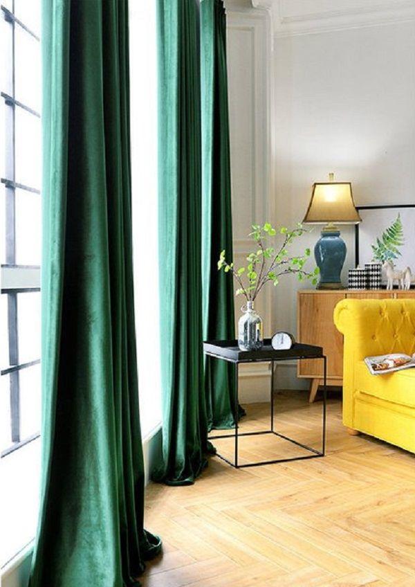 20 Best Modern Living Room Curtain Ideas Green Curtains Living
