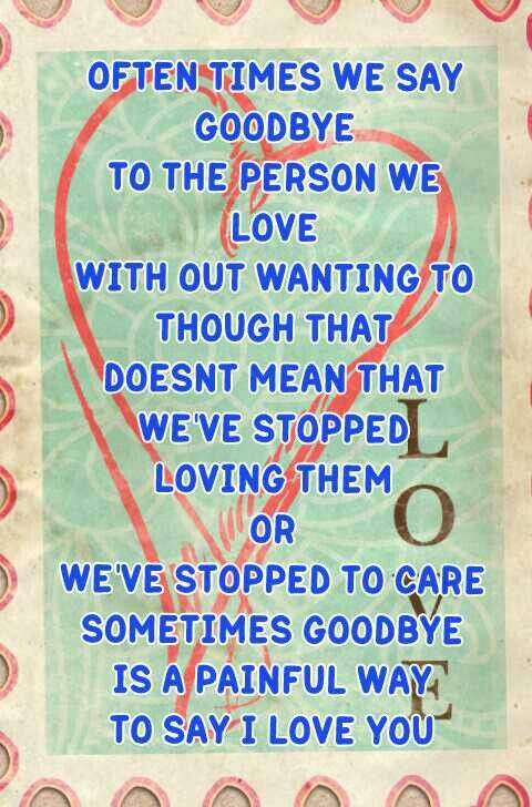 Love and Goodbye