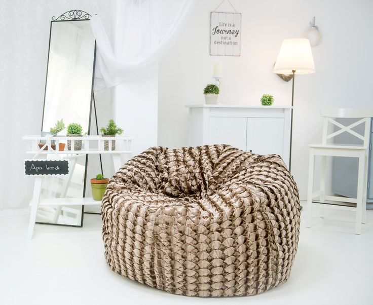 Giant, luxury, faux fur beanbag chair, luxury bean bag, faux fur beanbag chair cover, beanbag for adults by Magicbeanbag on Etsy