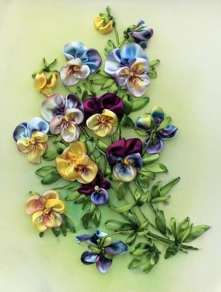 Best silk ribbon embroidery ideas on pinterest