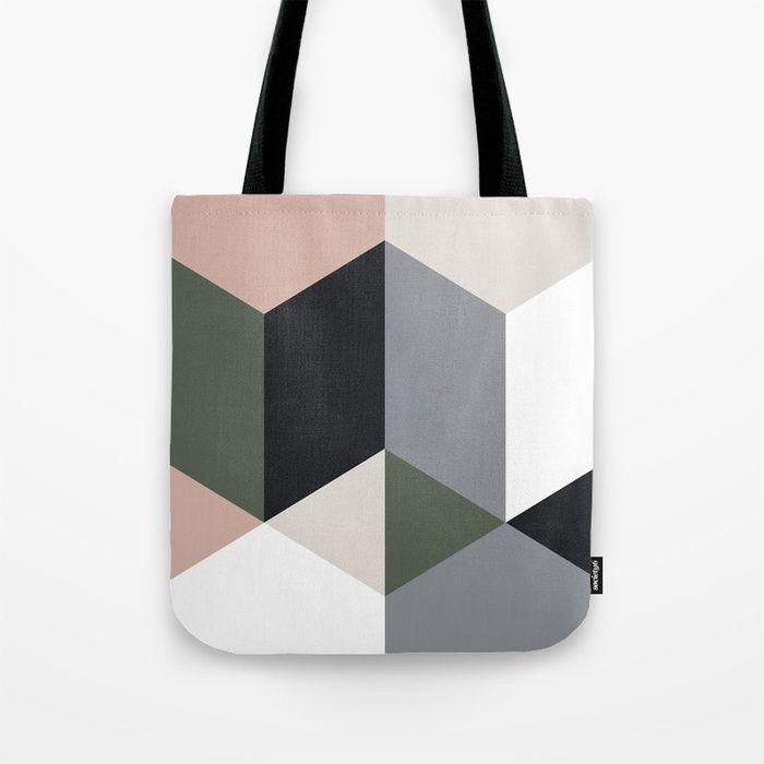 Buy Ruby Quatro Tote Bag by fimbis.         bags, gym, geometric, luggage, fashion, stylish, travel, shopping,