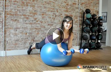 @TheCoachNicole's 8-Minute Upper Body Sculpting Workout (using ball and dumbbells)