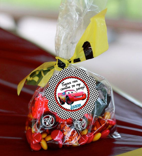Favor Tags - Disney Cars Birthday Party Line - Stick to Your Story on Etsy, $8.00