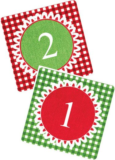 Advent printable number cards.  Great list of activities to do each day as a family.