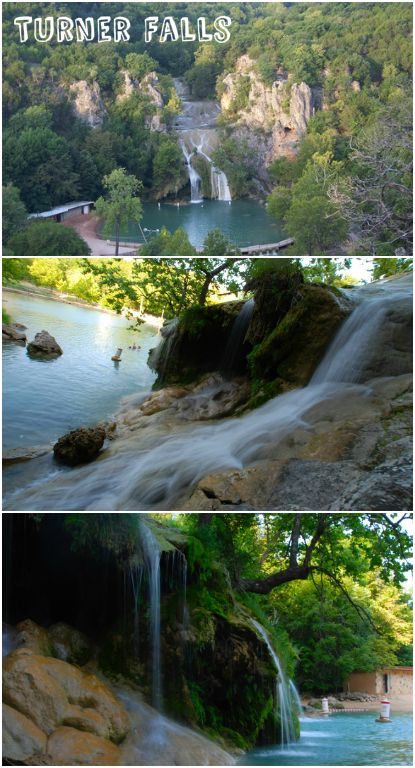 In the spring, Turner Falls in Davis turns green and becomes a popular swimming spot in southern Oklahoma. The park is located in the Arbuckle Mountains and features a 77-foot waterfall.