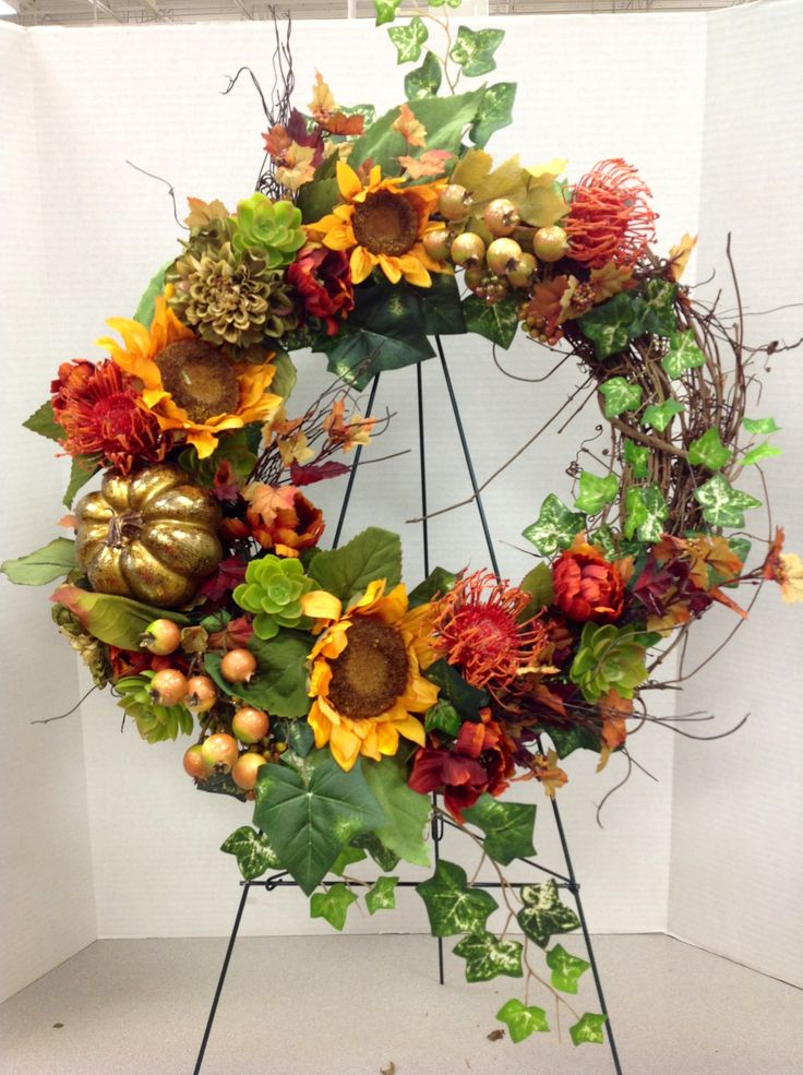 1743 Best Fall Or Thanksgiving Wreaths Swags Images On