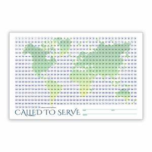 World Missionary Countdown Sheet - Elder coloring countdown calendar, color in countdown calendar, mission countdown, missionary countdown