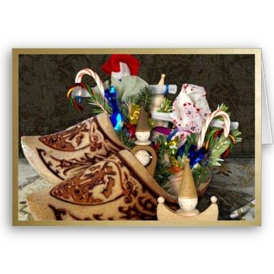 Wooden Shoes for Het Sint Nicolaasfeest - NoteCard