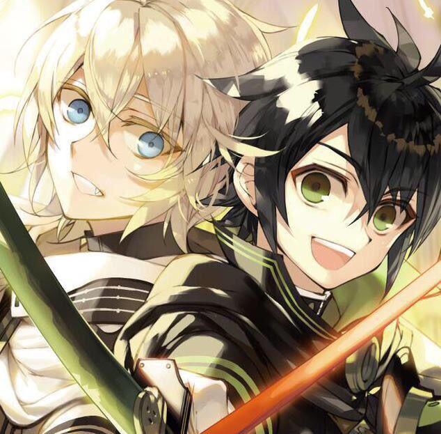 Mika and Yuu from Owari no Seraph