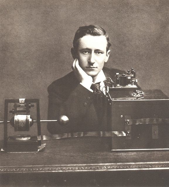 Guglielmo Marconi 1901 (first to send a morse code across the atlantic, the dawn of new era in wireless communication):