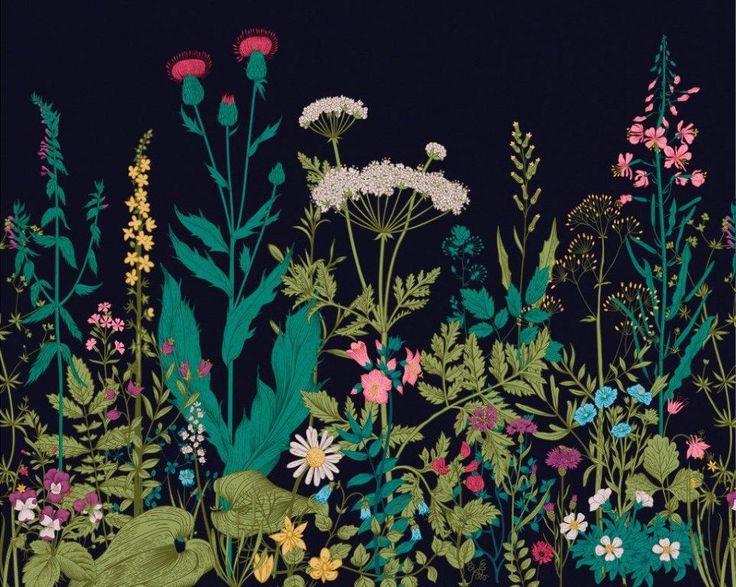 Colourful Botanical Fleur Mural