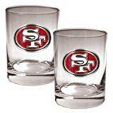 NFL San Francisco 49ers Two Piece Rocks Glass Set - Primary Logo