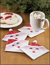 Friendly Santa Coasters