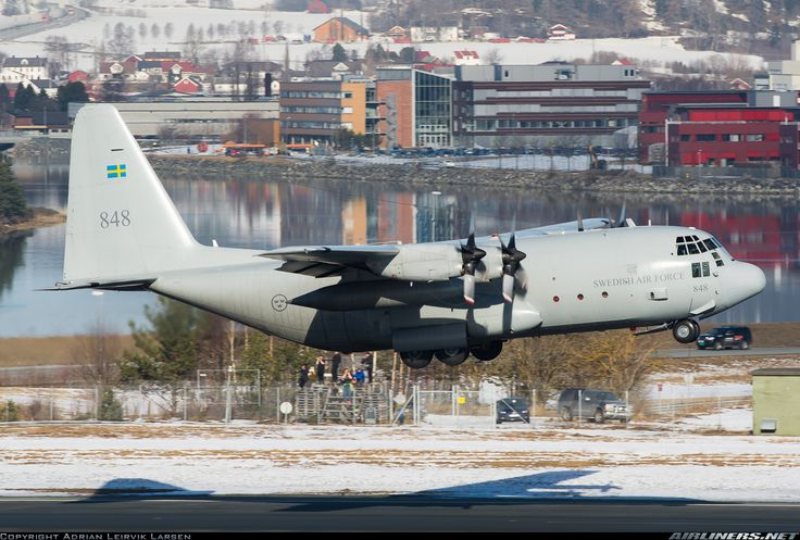 Lockheed C-130H Hercules, Sweden Air Force, 84008 / 848, cn 382-4890. Trondheim, Norway, 10.3.2016.