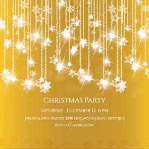 Falling Stars - Free Printable Christmas Invitation Template   Greetings Island