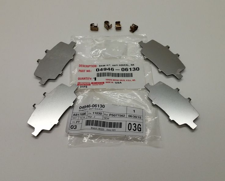 Awesome Awesome Toyota Avalon And Camry Rear Brake Pad Shim Kit 04946-06130 2017/2018