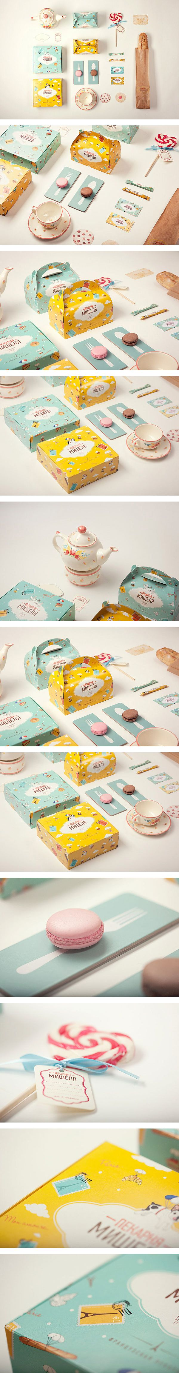 Sweet Michelle's Bakery tea and cakes #packaging PD #design