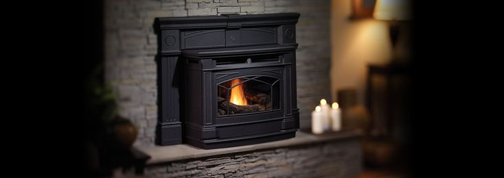 This environmentally-friendly fireplace insert combines all of the best features of traditional cast iron with the latest developments in alternative fuel technology. This pellet insert (GCI60) can burn wood pellets, corn, wheat & barley at maximum efficiencies for very cost effective home heating.