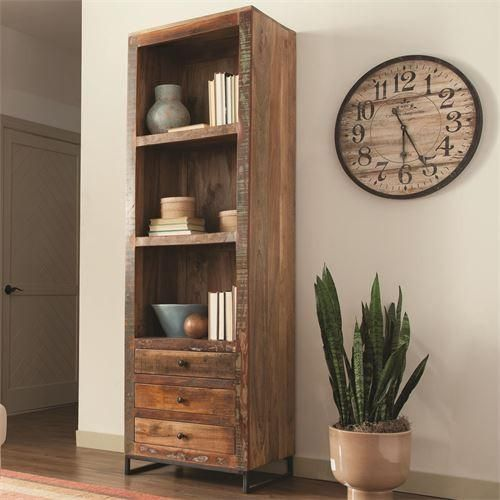 Coaster Reclaimed Wood Bookcase with Bottom Drawers Las Vegas Furniture  Online | LasVegasFurnitureOnline.com | - 57 Best Bookcase Images On Pinterest Furniture Online, Coaster