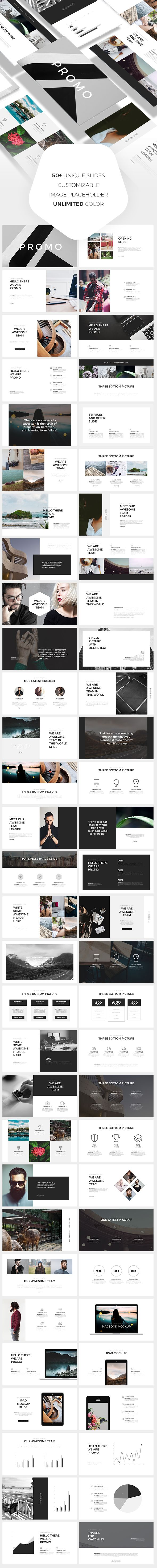 Promo PowerPoint Template. Download: https://graphicriver.net/item/promo-powerpoint-template/18675544?ref=thanhdesign