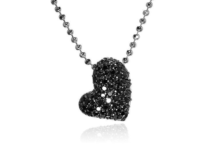 Giglio amore pendant in black