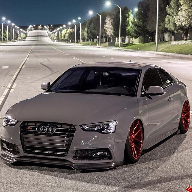 Love this combination from @blk.rs5: Red bottoms #Audi #s5 #niche #black…