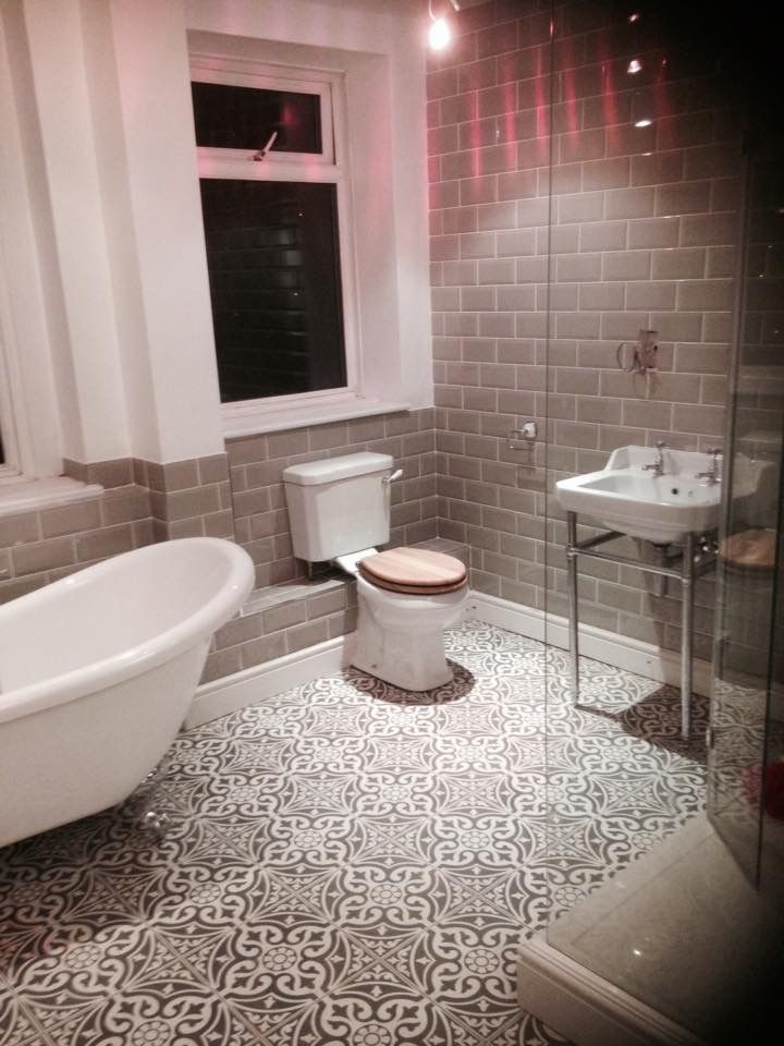 Pin By Tok Storage On Bathroom Grey Bathroom Tiles Victorian Tiles Bathroom Victorian Bathroom