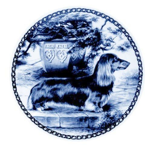 Dachshund Miniature-Longhaired / - Lekven Design Dog Plate 19.5 cm /7.61 inches Made in Denmark NEW with certificate of origin PLATE -7247 ** Click on the image for additional details. (This is an affiliate link and I receive a commission for the sales)