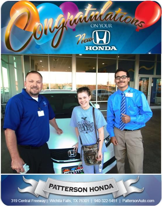 Someone has a terrific grandmother!!  Congratulations Chyenne on your new 2013 Civic!! -David Diehl at Patterson Honda