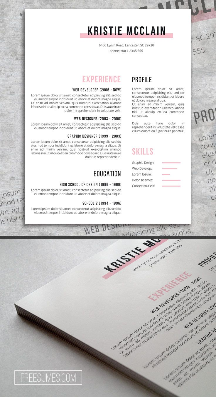 Crisp and Clean Resume Design Editable Template