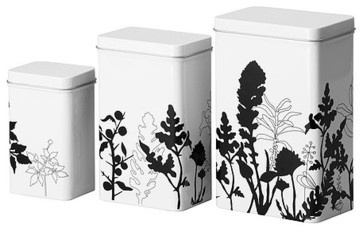 TRIPP Storage tin with lid, set of 3 modern food containers and storage