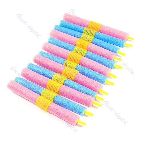 12pcs Soft Foam Anion Bendy Hair Rollers Curlers Cling