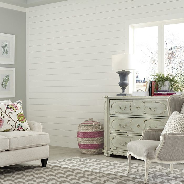 Accent Wall With White Shiplap White Shiplap Wall Ship Lap