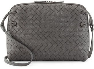 Bottega Veneta Veneta Small Messenger Bag, Gray #1010ParkPlace