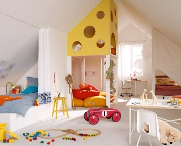 Inspiring Kids Loft Bedroom Designs With Simple Interior Plans : Unique  Loft Bedroom Inspirations. Colorful Kidu0027s Bedroom Interior,inspiring Kidu0027s  Loft ...