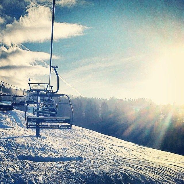 #snow #winter #Wierchomla #ski #snowboard #sun #blue_sky #followme