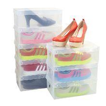 2015 оптовая продажа 3 шт./лот обувь хранения пластиковые складной ящик стиль обувь контейнер организатор для хорошо защищают бесплатная доставка(China (Mainland))