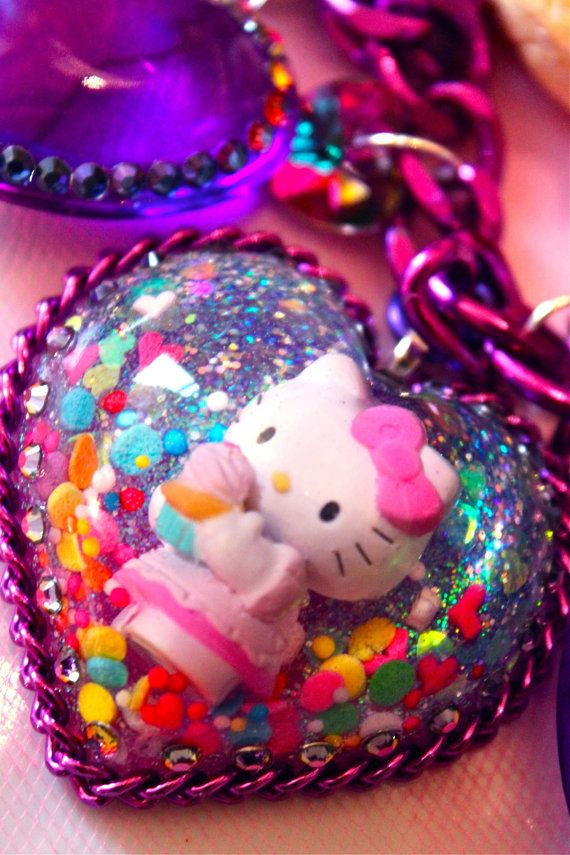 kawaii hello kitty necklace by athinalabella
