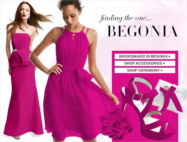 BEGONIA Color Palettes, Bridesmaid Dresses by Color - David's Bridal Colors Sarah mentioned: Terri
