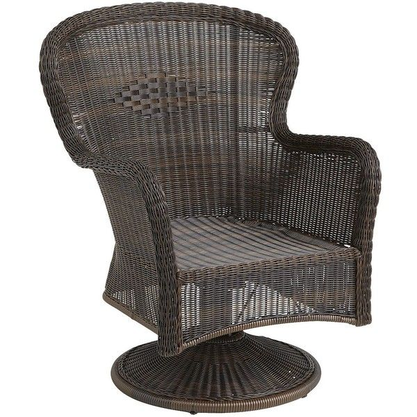 Pier 1 Imports Brown Coco Cove Swivel Rocker ($280) liked ...
