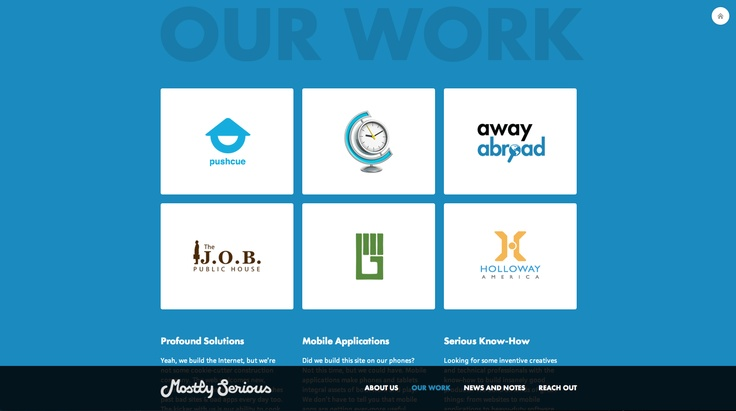 http://mostlyserious.io/our-work/ #website #blue