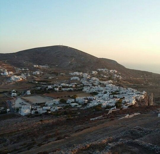 Sunset at Chora of Folegandros, Greece July 2016
