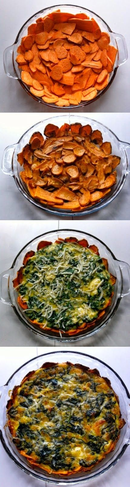 Very Best Pinterest Pins: Sweet Potato Crusted Spinach Quiche