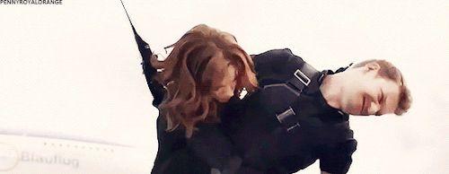 Clint and Natasha fight