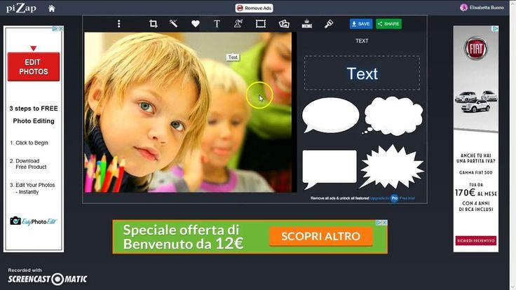 Formidabile strumento di editing di immagini on line: PiZap-in 4 minuti